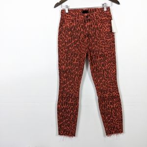 MOTHER Looker Ankle Fray Animal Attraction NWT
